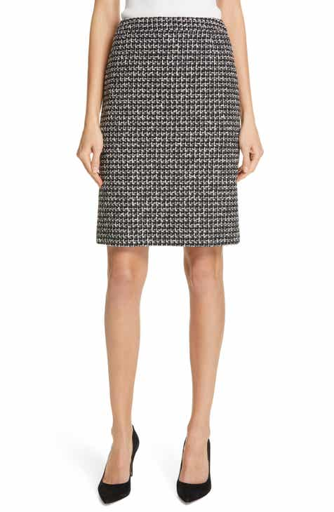 b1d3e02e BOSS Vilea Textured Jersey Skirt