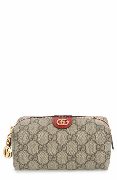 85f4dc364f59 Gucci Medium Ophidia GG Supreme Canvas Cosmetics Case