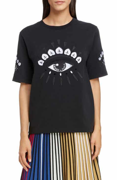 68e3bcf3112 KENZO Crystal Embroidered Eye Tee