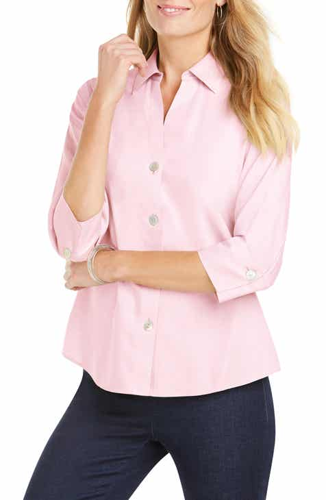 d5dbd1cfbb17e3 Foxcroft Paityn Non-Iron Cotton Shirt (Regular   Petite)