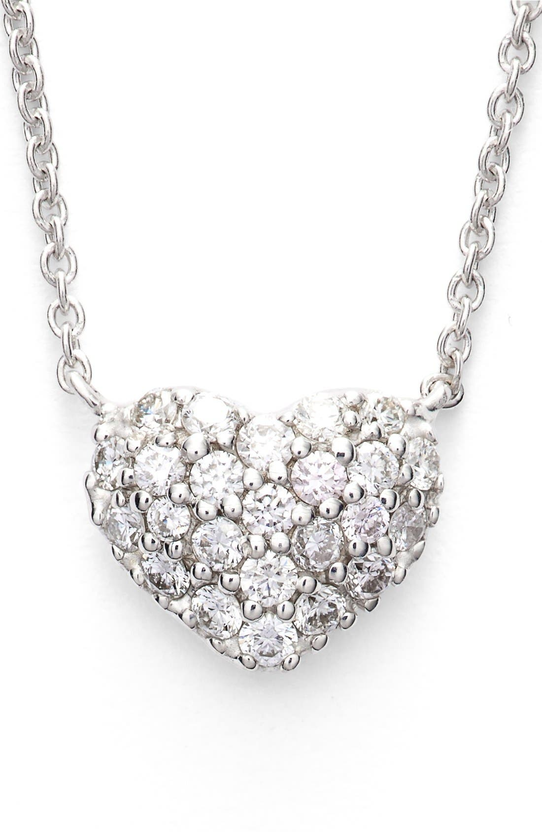Alternate Image 6  - Bony Levy Diamond Pavé Heart Pendant Necklace (Limited Edition) (Nordstrom Exclusive)
