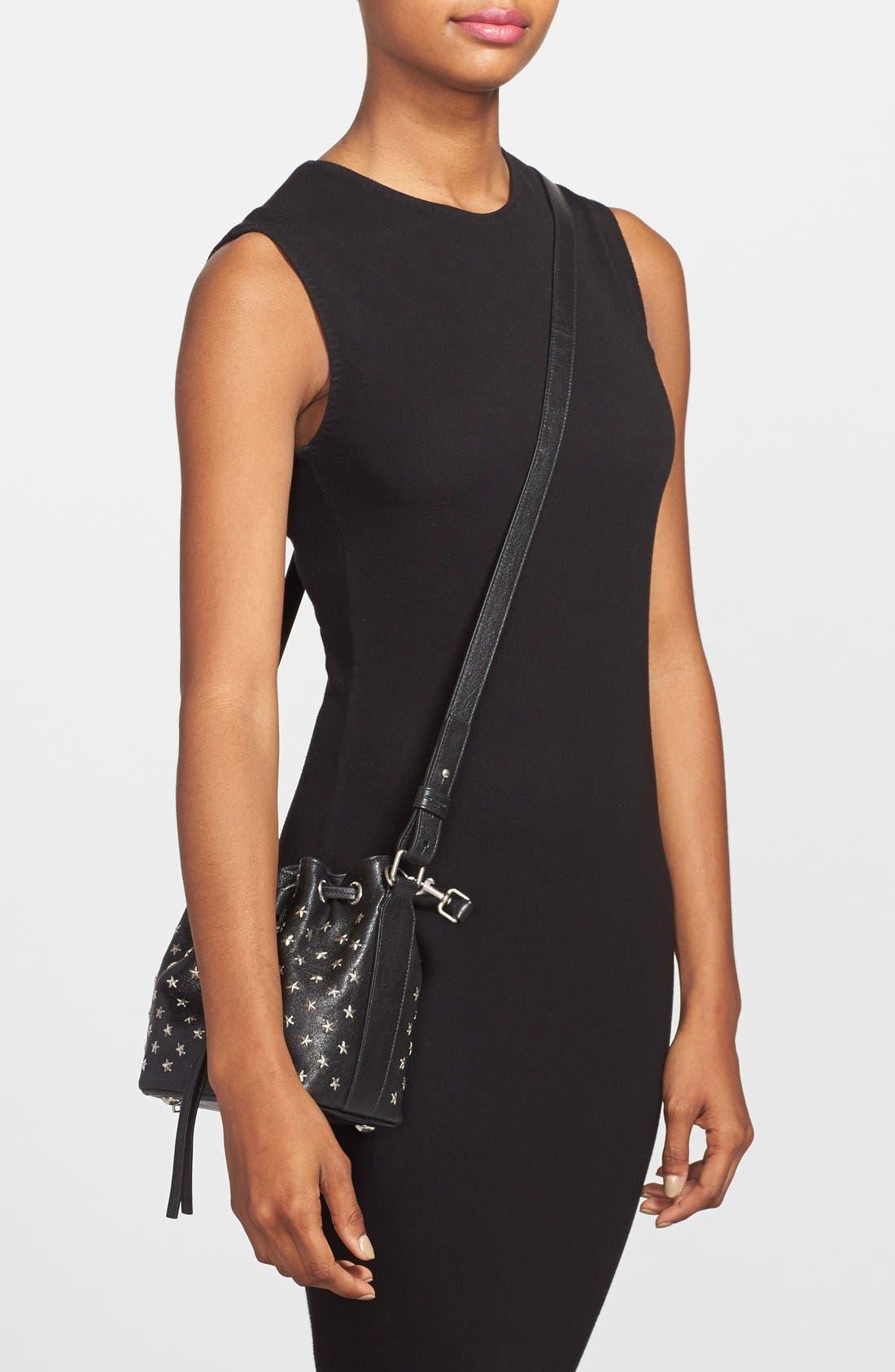 Alternate Image 5  - Saint Laurent Studded Small Leather Bucket Bag