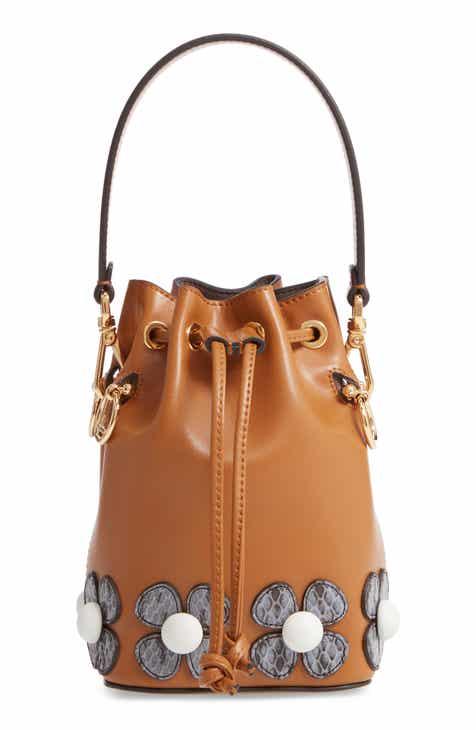 9de8d0417f Fendi Mon Tresor Embellished Leather Bucket Bag