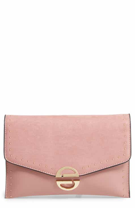 3fe5debff8fa Topshop Candice Studded Faux Leather Clutch