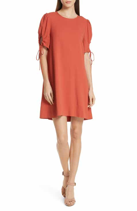 c484a4673a2 See by Chloé Cinch Sleeve Shift Dress