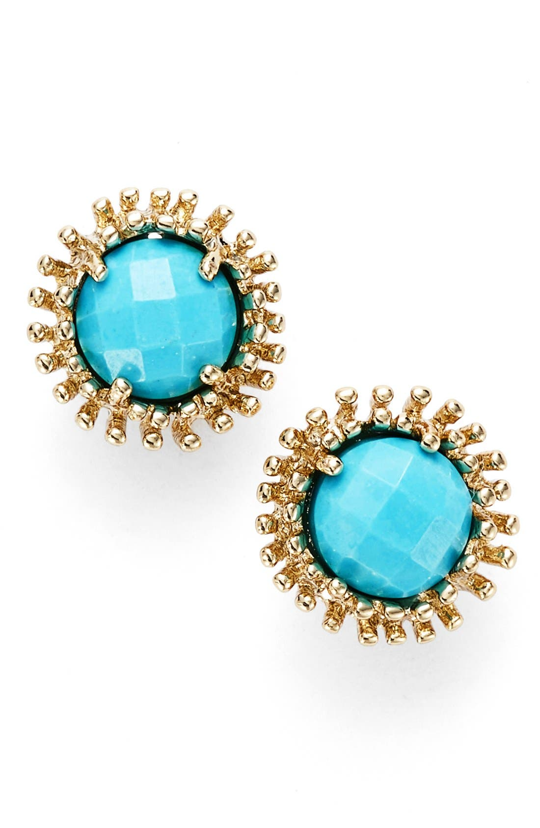 'Carly' Stud Earrings,                         Main,                         color, Turquoise