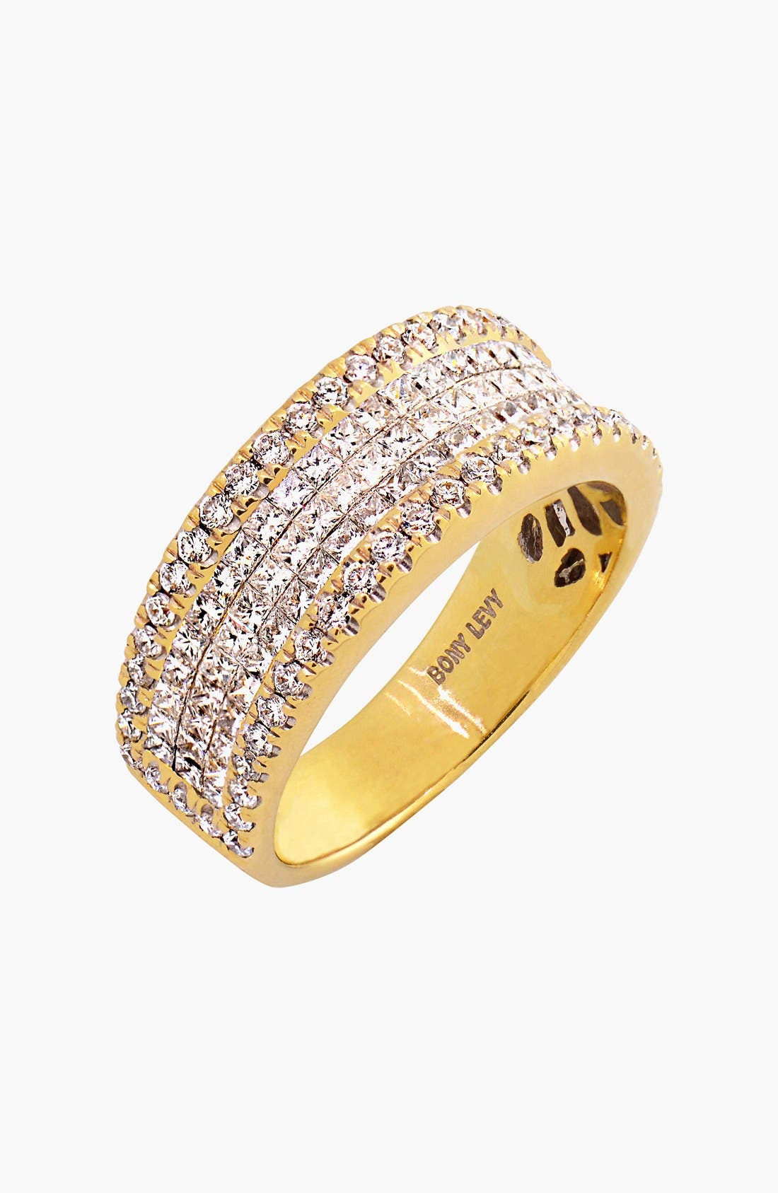 Main Image - Bony Levy Five Row Diamond Ring (Nordstrom Exclusive)
