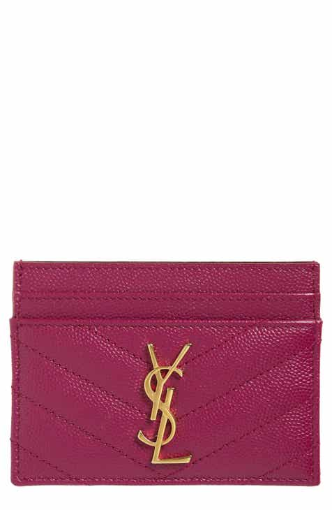 Saint Laurent Monogram Quilted Leather Credit Card Case 4b318acc0f011