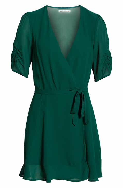 Reformation Monica Wrap Dress by REFORMATION