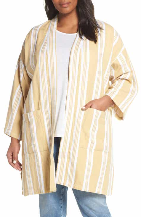 07ff5af2aa934 Eileen Fisher Stripe Kimono Jacket (Plus Size)