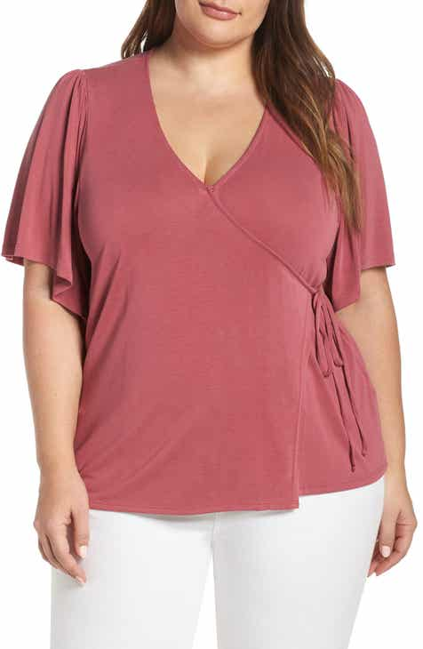 eb2fc66cf04 Lucky Brand Sand Wash Wrap Top (Plus Size)