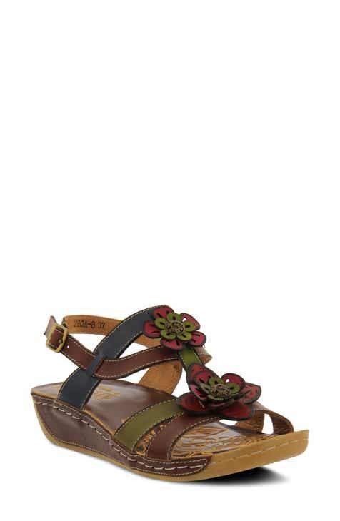 1389c3a03f3 L Artiste Phalda Floral Wedge Sandal (Women)