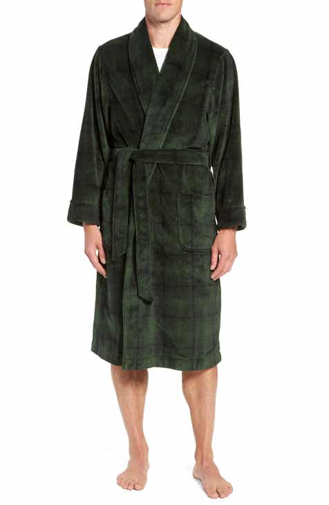 Nordstrom Men s Shop Ombré Plaid Fleece Robe 46751917bf3