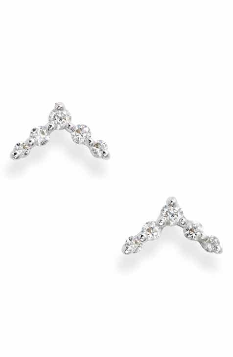 Bony Levy Chevron Diamond Stud Earrings (Nordstrom Exclusive) 3583bf91ebaf