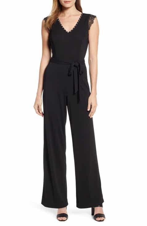 caec7e793e3c Karl Lagerfeld Paris Embellished Jumpsuit
