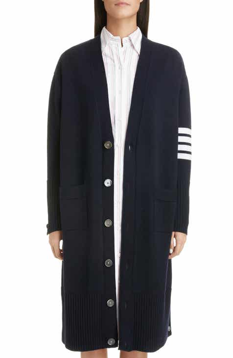 0bea9469b1e Thom Browne 4-Bar Longline Wool Cardigan