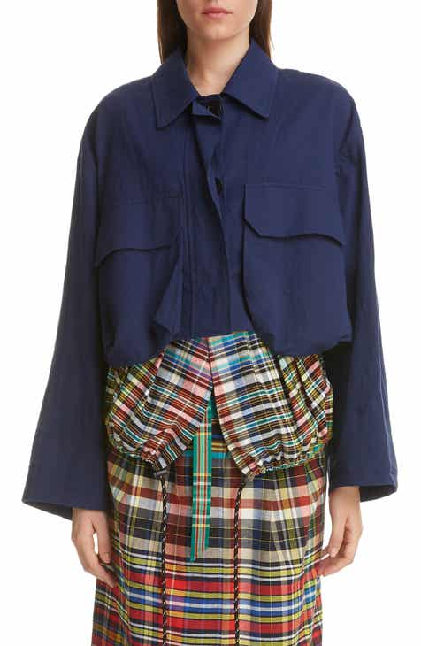 Dries Van Noten Vigran Cotton Blend Crop Jacket by DRIES VAN NOTEN