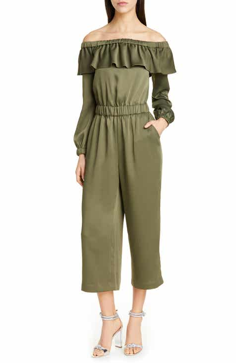Julia Jordan Illusion Neck Wide Leg Jumpsuit by JULIA JORDAN