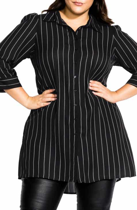 9aac501880ef40 City Chic Fine Stripe Tunic (Plus Size)