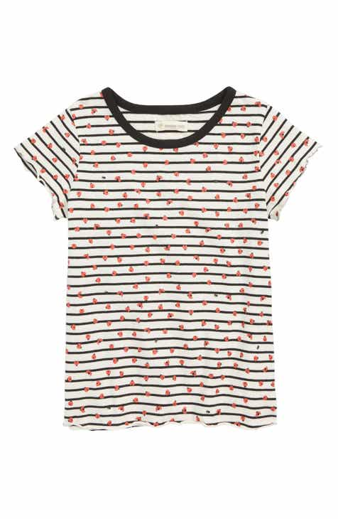Tucker + Tate Ladybug Stripe Tee (Toddler Girls