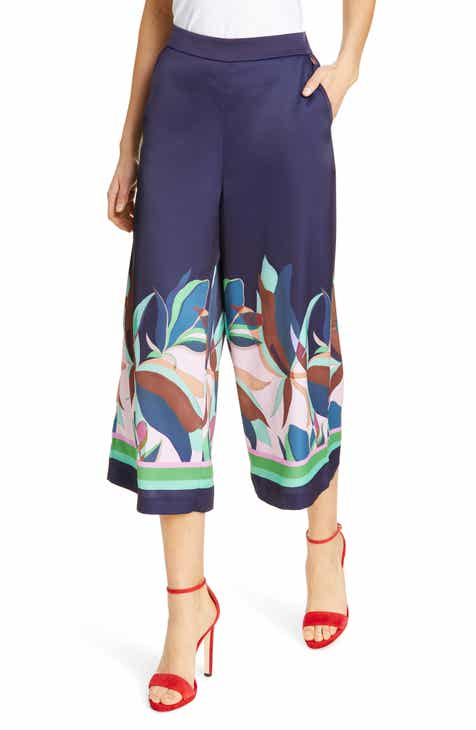 Ted Baker London Mantao Supernatural Wide Leg Cropped Pants by TED BAKER LONDON