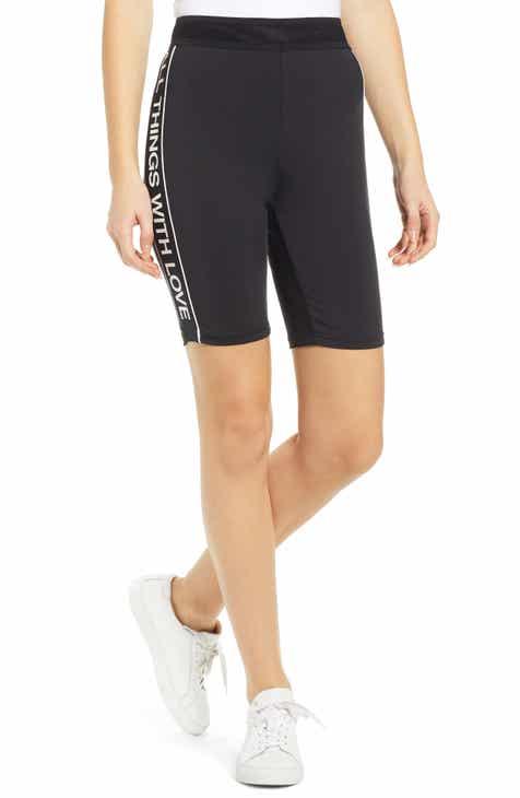 Pam & Gela Logo Side Stripe Bike Shorts by PAM AND GELA