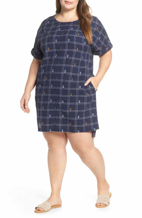 fca39bf77b Caslon® Jacquard Shift Dress (Plus Size)