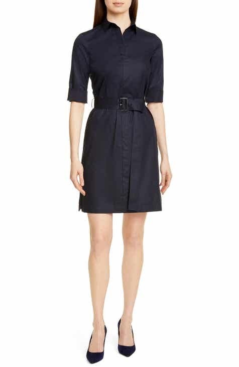 BOSS Daliri Belted Shirtdress By BOSS HUGO BOSS by BOSS HUGO BOSS New Design