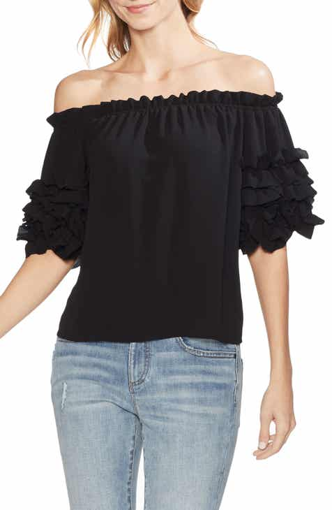 7505b9673de Vince Camuto Off the Shoulder Ruffle Sleeve Blouse