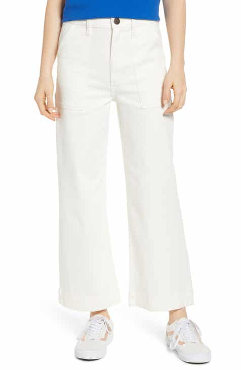 Joie Ardina Crop Wide-Leg Linen Pants by JOIE