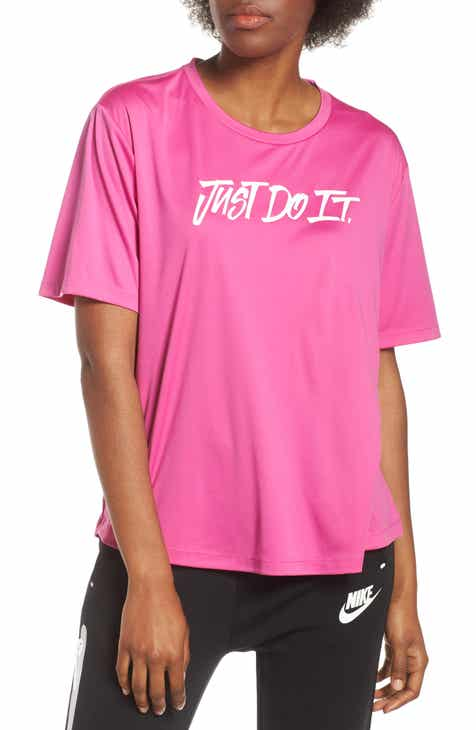 05f4bd6e Nike Dry Just Do It Split Back Tee