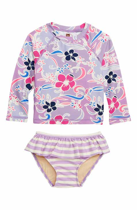 f4db99ba84f Tea Collection Mixed Print Two-Piece Rashguard Swimsuit (Baby)