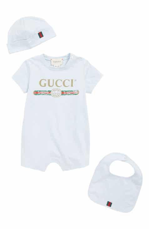 ff9cc6a46 Gucci Romper, Cap and Bib Set (Baby)