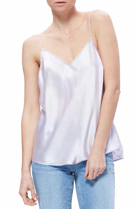 35f6bc91900f3 PAIGE Cicely V-Neck Silk Camisole