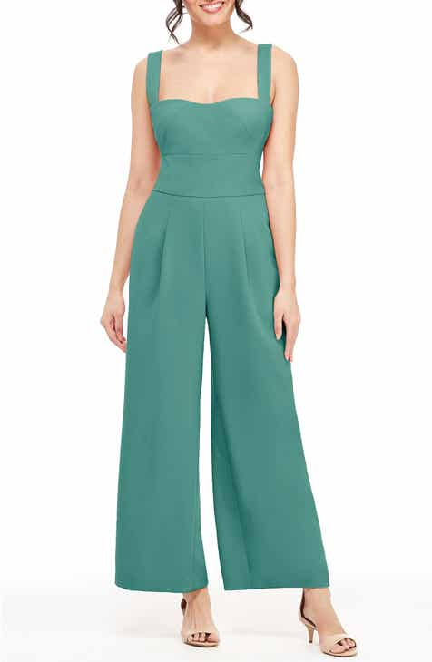f57e16756e09 Gal Meets Glam Collection Nicole Square Neck Jumpsuit (Regular   Petite)  (Nordstrom Exclusive)