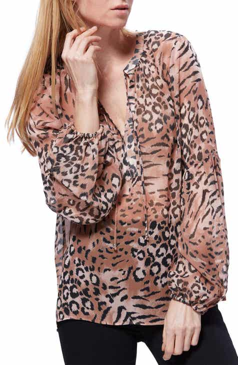 PAIGE Beretta Animal Print Top