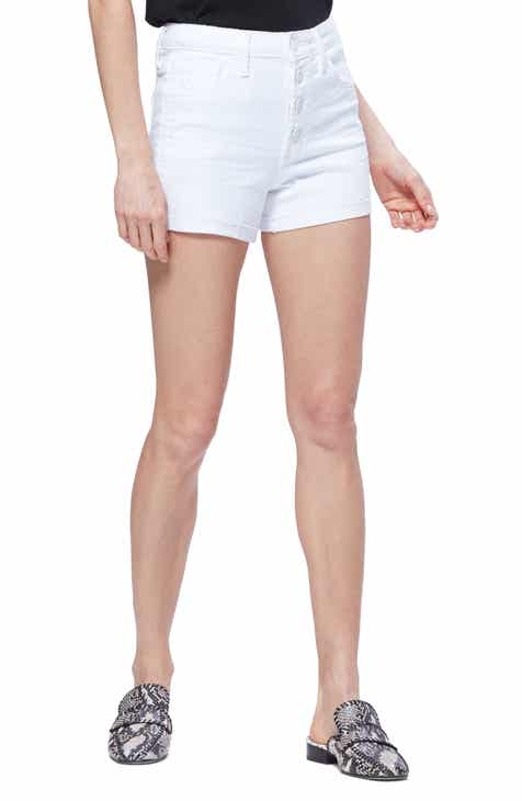 3551a5b9ff PAIGE Sarah High Waist Denim Shorts (Lived In Crisp White)