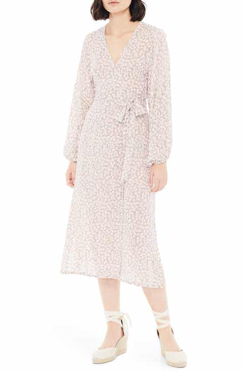 FAITHFULL THE BRAND Le Figaro Floral Long Sleeve Midi Wrap Dress by FAITHFULL THE BRAND