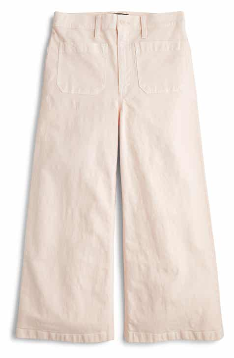J.Crew Point Sur Washed Wide Leg Crop Pants by J.CREW