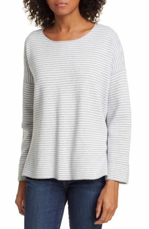 Eileen Fisher Round Neck Boxy Top (Regular & Petite) by EILEEN FISHER