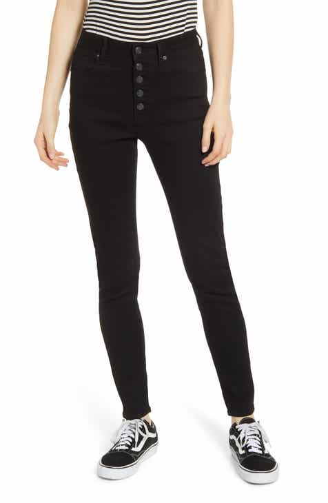 Vigoss Ace Button Fly High Waist Skinny Jeans by VIGOSS
