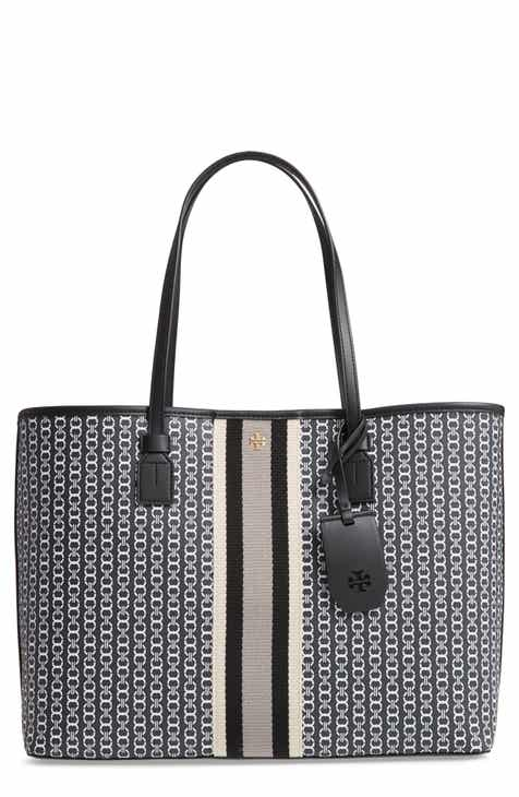 80446e0d84b Tory Burch Gemini Link Coated Canvas Tote