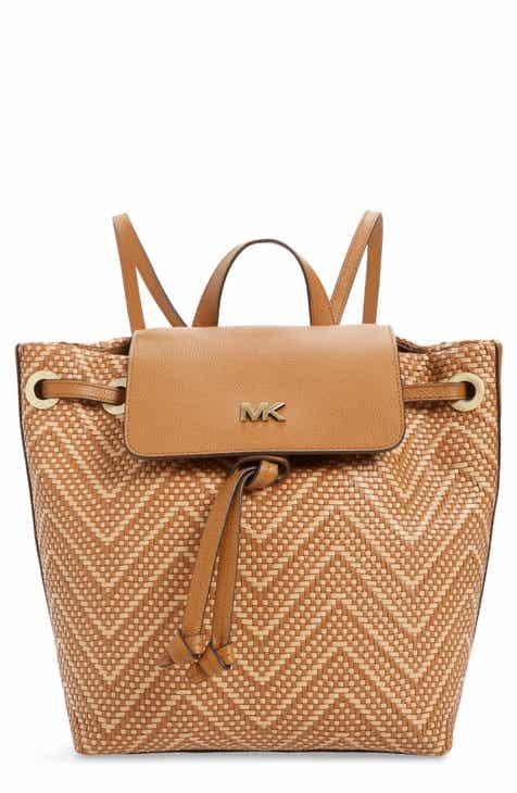6d330d1f2100 MICHAEL Michael Kors Medium Junie Woven Leather Backpack