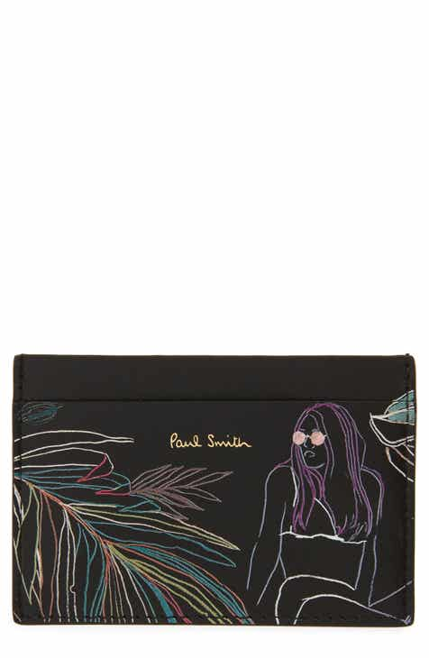Paul Smith Sketch Print Leather Card Case b906db3ed6d26