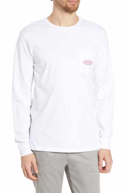258566caa916 vineyard vines Surf Logo Long Sleeve Pocket T-Shirt