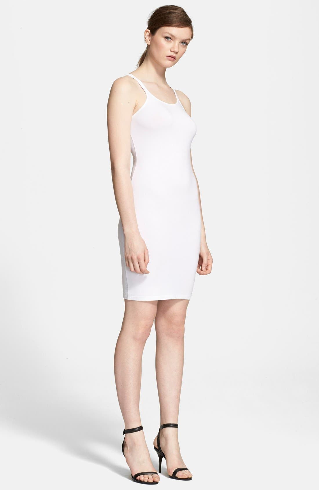 Main Image - T by Alexander Wang Stretch Knit Tank Dress