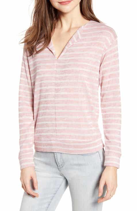 Socialite Seam Front Stripe Sweatshirt by SOCIALITE