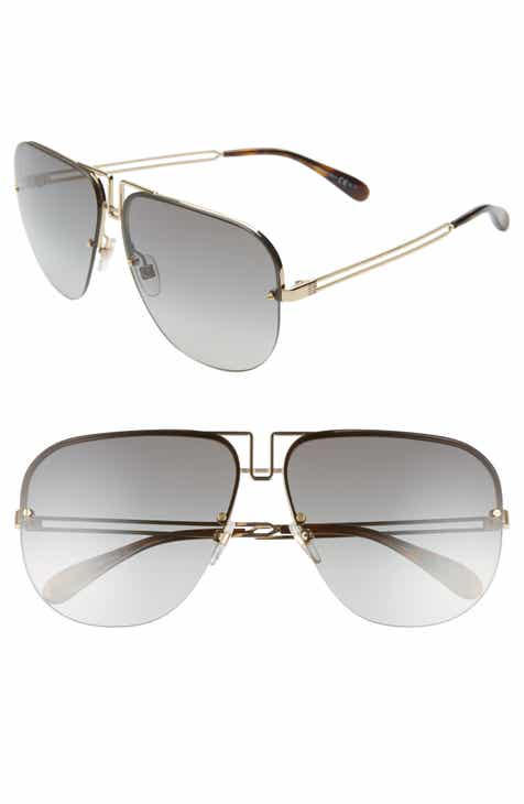 0ab215edb Givenchy 64mm Oversize Aviator Sunglasses