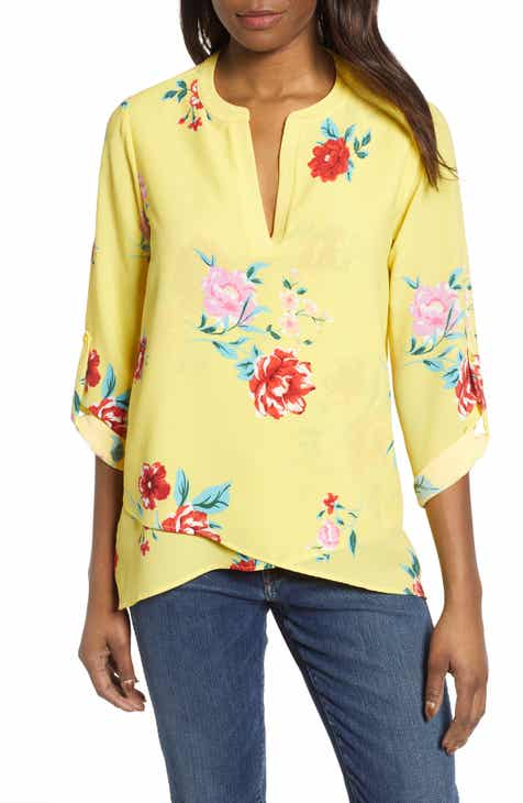 8de0001ba3e232 Gibson x International Women s Day Erin Cross Front Tunic Blouse (Regular    Petite)