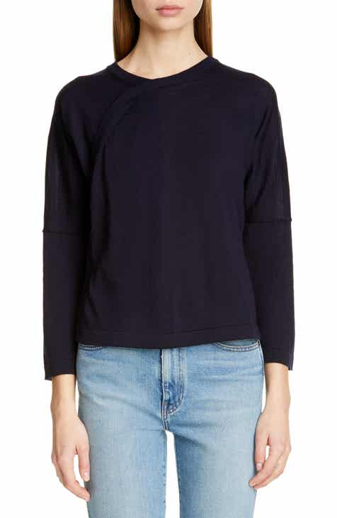 Vince Short Sleeve Wool & Cashmere Blend Sweater by VINCE